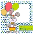 Card with bunny boy vector image