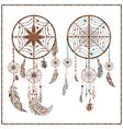 Dream catcher ethnic ornament spider web beads vector image