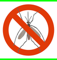 aedes prohibited vector image