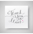 thank you so much vector image vector image