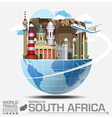 South Africa Landmark Global Travel And Journey vector image