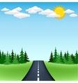 horizon road trip vector image