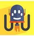 Robot Separated Head Charcter vector image