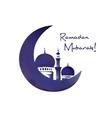Mosque and moon ramadan symbol vector image