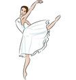 balerine vector image