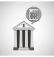 building bank economy calculator money vector image