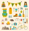 Collection of Camping and Hiking Equipment vector image