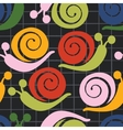 Colorful pattern with snails vector image