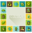 Ecology frame with environment icons vector image