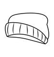fashion beanie hat vector image