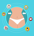 Flat design colorful concept for keeping fit vector image