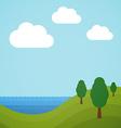 Flat landscape vector image