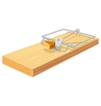Free cheese in mousetrap vector image