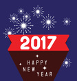 Happy new year 2017 theme vector image