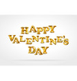 happy valentines day gold balloon drawing card vector image