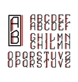 Monogram Art Nouveau and a set of letters vector image