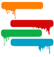 Set of splash color paint banners vector image