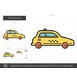 taxi car line icon vector image
