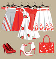 womens Clothing vector image vector image