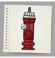 Fire Hydrant Doodle style Vector Image