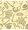 Body parts pattern vector image