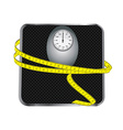 Floor scales with tape measuring vector image