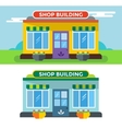 Shop buildings isolated vector image