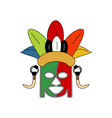 Tribe-Ceremonial-Mask-380x400 vector image