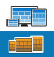Adaptive design layouts Web site page templates vector image vector image
