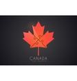 Canada logo Maple leaf Cymbol of Canada vector image
