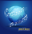 abstract 3d world music design concept vector image