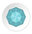 diamond icon circle vector image