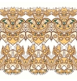 Ethnic horizontal seamless pattern Indian ornament vector image