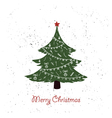hand drawn vintage christmas tree vector image