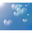 hearts soap bubbles vector image