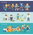 Kids Playing Banner vector image