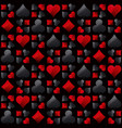 seamless casino gambling poker background vector image