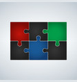 six step puzzle colorful infographic vector image