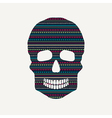 skull with pattern vector image