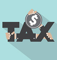 Tax Typography With Money Design vector image