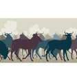 Wilderbeest herd vector image