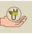 hands care environment eco energy vector image