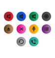 thin line button icon set vector image