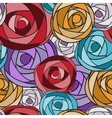 Colored art rose seamless pattern vector image