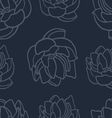 Lotus seamless pattern set vector image