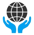 Global Hands Icon vector image