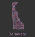 Delaware line art map vector image