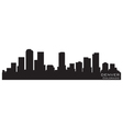 denver colorado skyline detailed silhouette vector image