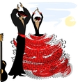 image of abstract flamenco couple vector image vector image