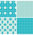 Abstract geometric circles seamless patterns set vector image